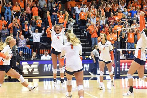 Illinois volleyball exceeds last season's win total - The