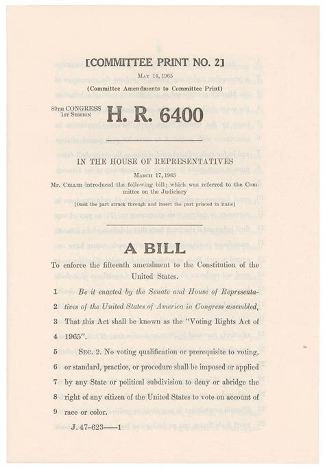 Voting Rights Act of 1965 | US House of Representatives