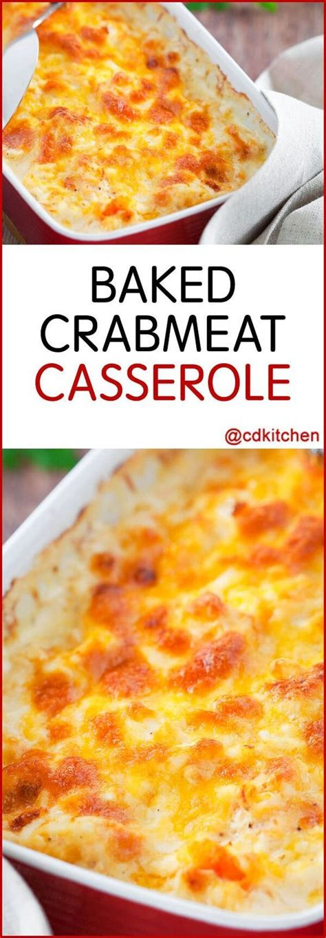 Baked Crabmeat Casserole - Recipe is made with Parmesan