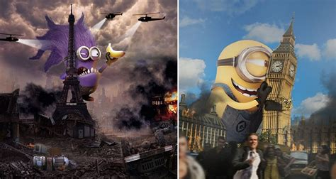 See What It Would Look Like If Giant Minions Took Over The