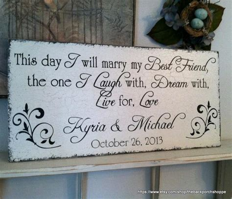 This day I will MARRY My BEST FRIEND with your Names and