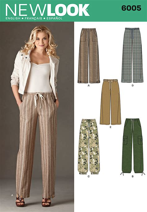 6005 New Look Pattern Misses Trousers