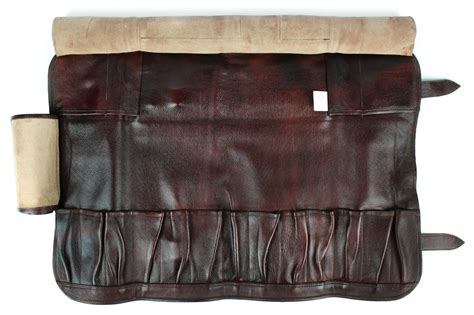 Boldric Leather Knife Bag, 17 Pocket, Brown   Cutlery and More