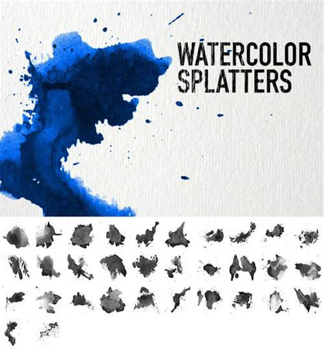 30 Sets of Watercolor Free Brushes for Photoshop - Designmodo