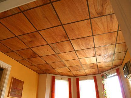 thin plywood for drop ceiling - PERFECT for our basement