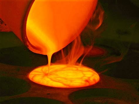 Fire Assay | The wild orange glow of the melts is