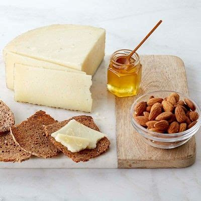 Manchego with Honey and Almonds   Manchego, Food, Almond
