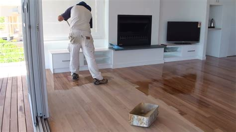 How To Paint A Wood Floor - Paint or apply clear