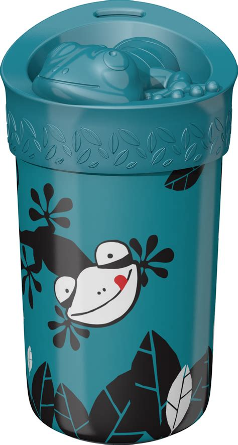 Tommee Tippee No Knock Toddler Cup with Lid , Gecko – 18