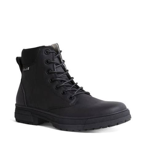 DALY WATERPROOF BLACK LEATHER – Steve Madden Canada