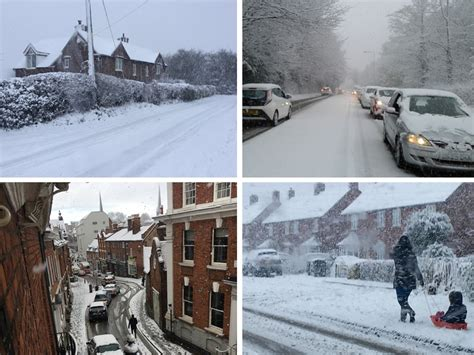 Heavy snow causes chaos in Shropshire - and there's more
