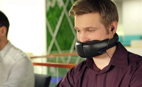 This Weird Mask Muffles Your Voice to Keep Phone Calls Private
