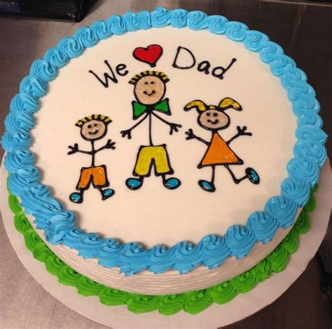 Father's Day DQ ice cream cake | Dad birthday cakes
