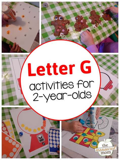 Letter G activities for 2-year-olds - The Measured Mom