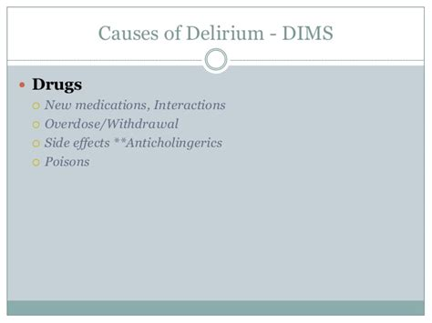 Confusion in the older adult: delirium and dementia