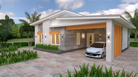 House Plans 10x8 with 2 Bedrooms Shed Roof - House Plans