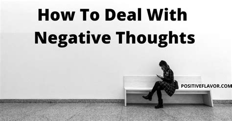 Negative thoughts - How to deal with negative thoughts